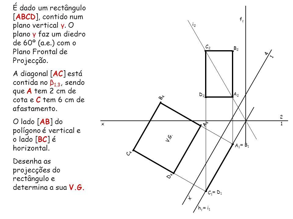 O lado [AB] do polígono é vertical e o lado [BC] é horizontal.